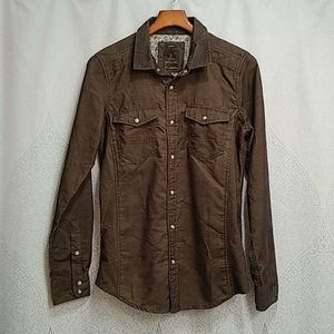 Prana Kellan Pearl snap slim fit shirt